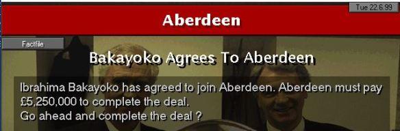 Bakayoko to Aberdeen