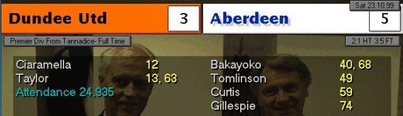 Dundee Utd 3 - 5 Aberdeen
