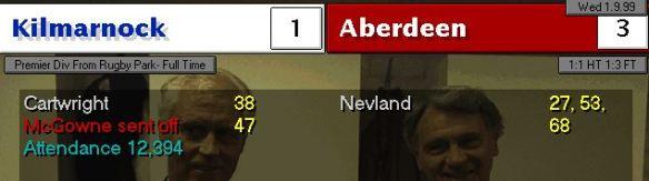 Kilmarnock 1 - 3 Nevland