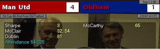 mufc 4 - 1 oldham
