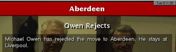 Owen rejects
