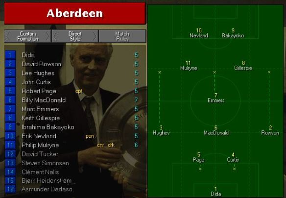 Aberdeen team vs man utd
