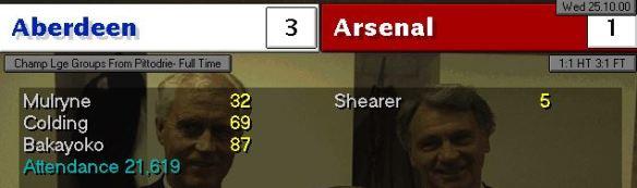 arsenal 3 -1