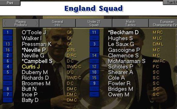 England squad 00