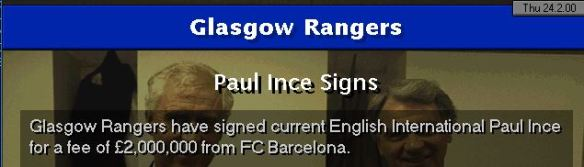 Ince to Rangers