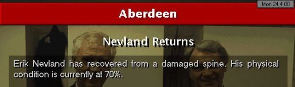Nevland returns