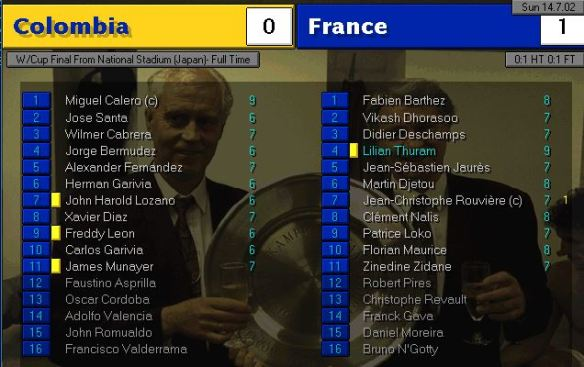 colombia 0 - 1 france WC final