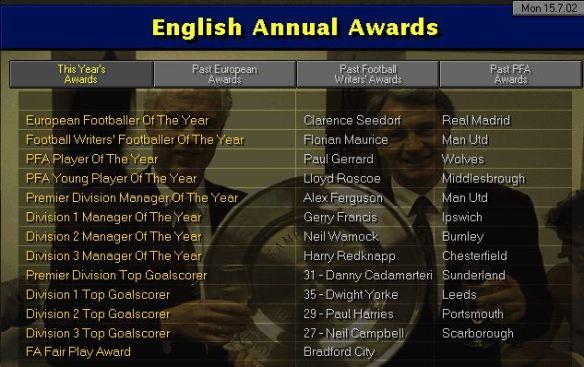 english awards S5
