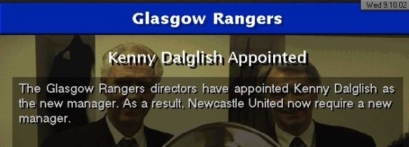 kenny to rangers