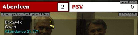 PSV 2-0