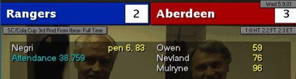 Rangers cup win