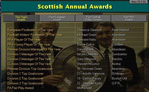 scottish awards S5