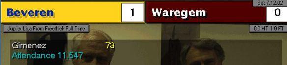beveren 1 - 0 waregem