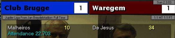 BRugge 1 - 1 Waregem