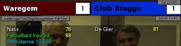 Brugge 1-1