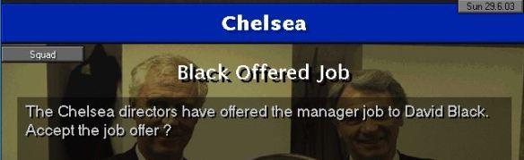 Chelsea job offer