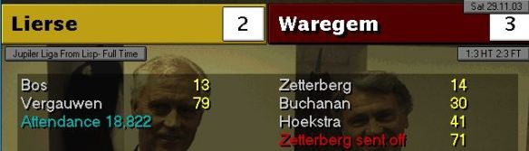 Lierse 2 - 3 win