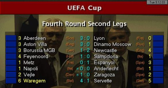 UEFA Cup results