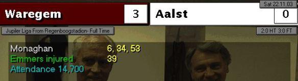 Waregem 3 - 0 Aalst