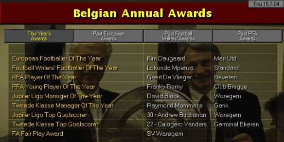 belgian awards S7