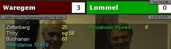 Lommel 3-0