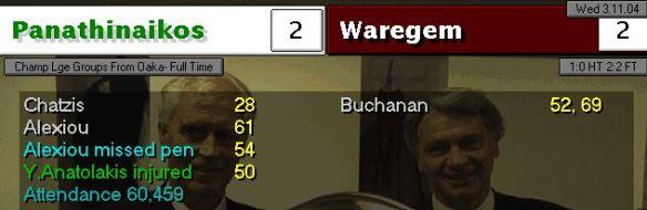 Pana 2 - 2 Waregem