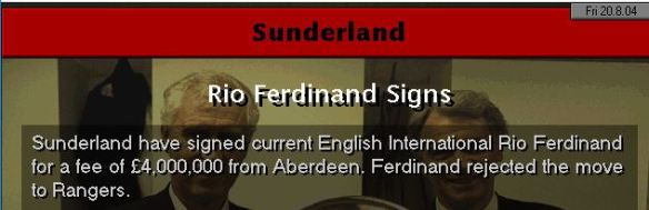rio to sunderland