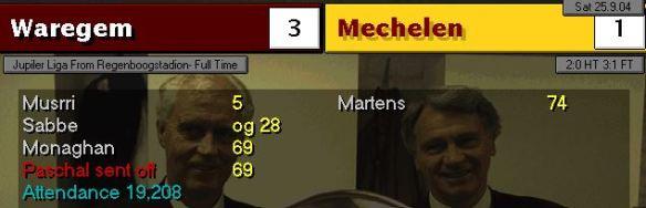 waregem 3 - 1 mechelen