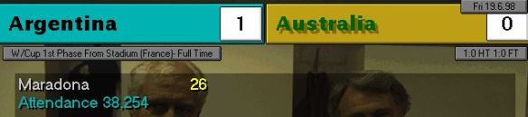 argentina australia FT scoreboard