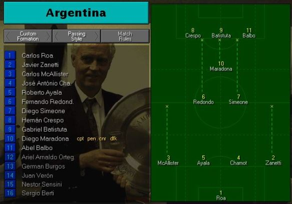 argentina formation vs england