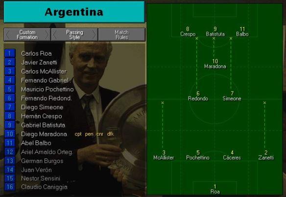 Argentina tactics vs tunisia