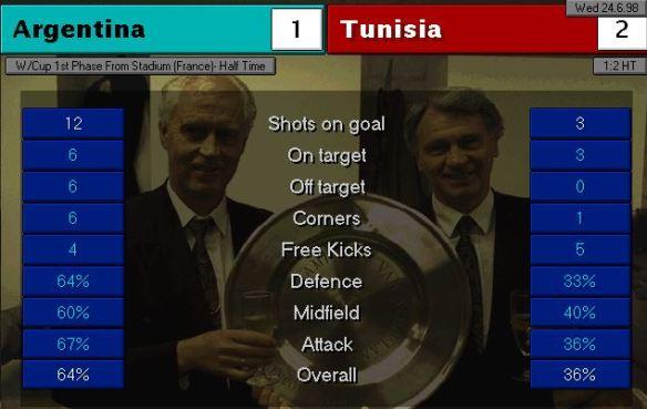 argentina tunisia HT stats