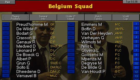 belgium squad
