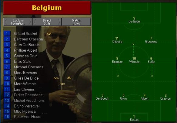 Belgium team vs Chile