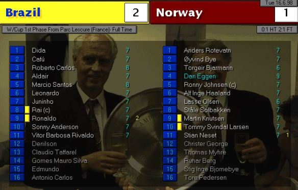 brazil 2 - 1 norway ratings
