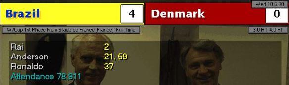 Brazil Denmark FT score