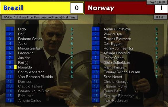Brazil Norway HT Ratings