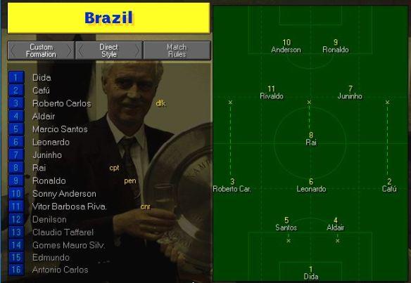 Brazil team vs Norway