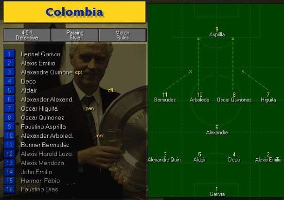 colombia tactics vs holland