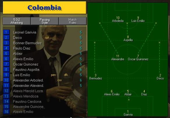 colombia team vs ireland