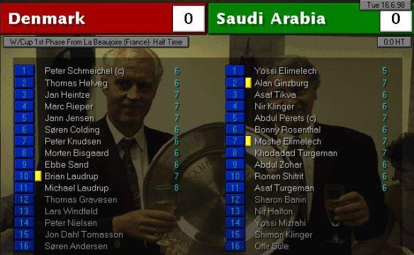 Denmark 0 - 0 saudi arabia HT ratings