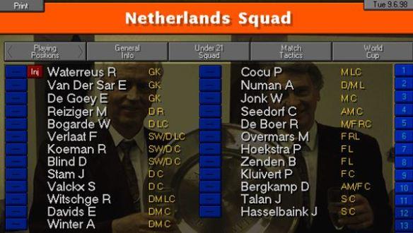 dutch squad final