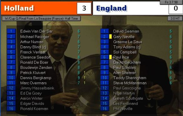 england holland HT ratings