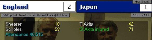 England Japan Scoreboard