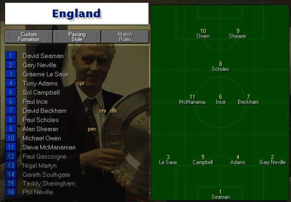 England tactics vs Tunisia