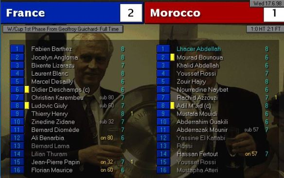France 2 - 1 Morocco FT ratings