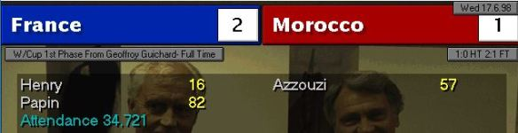 france 2-1 morocco scoreboard