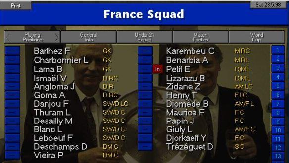 France 98 squad final