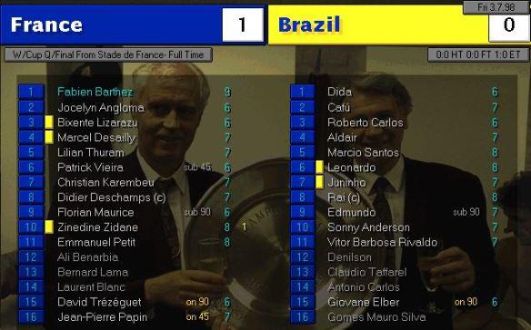 france brazil AET stats