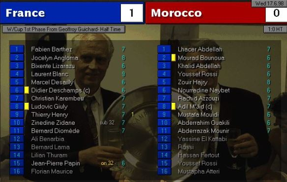 france morocco HT ratings